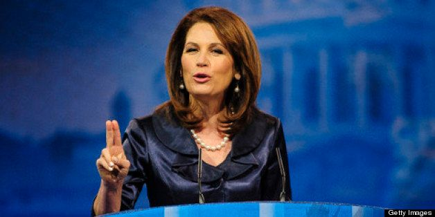 NATIONAL HARBOR, MD - MARCH 16: Rep. Michele Bachmann (R-MN) speaks at the 2013 Conservative Political Action Conference (CPA