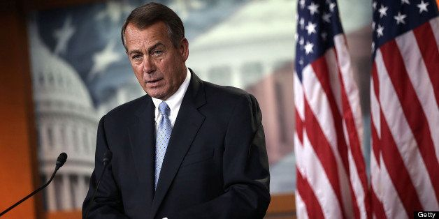 WASHINGTON, DC - JUNE 06:  U.S. Speaker of the House Rep. John Boehner (R-OH) speaks during his weekly news conference June 6