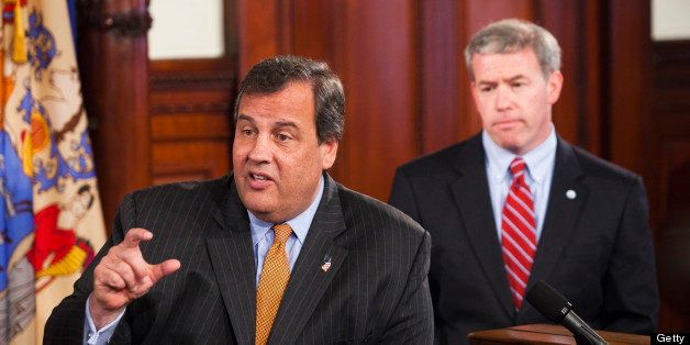 TRENTON, NJ - JUNE 6: New Jersey Gov. Chris Christie speaks during a press conference as New Jersey Attorney General Jeffrey
