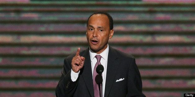 CHARLOTTE, NC - SEPTEMBER 05:  U.S. Rep. Luis V. Gutierrez (D-IL) speaks during day two of the Democratic National Convention
