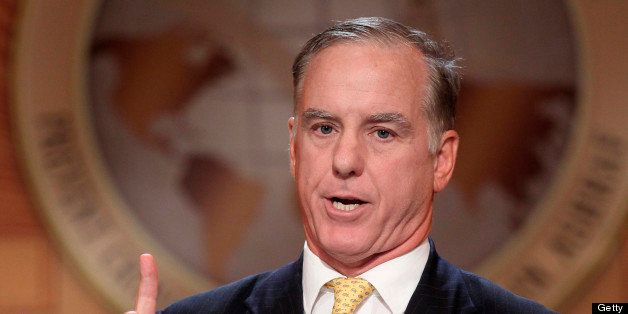 Former Chairman of the Democratic National Committee, Howard Dean, delivers a speech, on July 20, 2011 in Paris, during an in