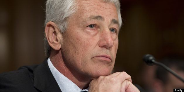 US Secretary of Defense Chuck Hagel testifies before the Senate Appropriations Defense Subcommittee during a hearing on Capit