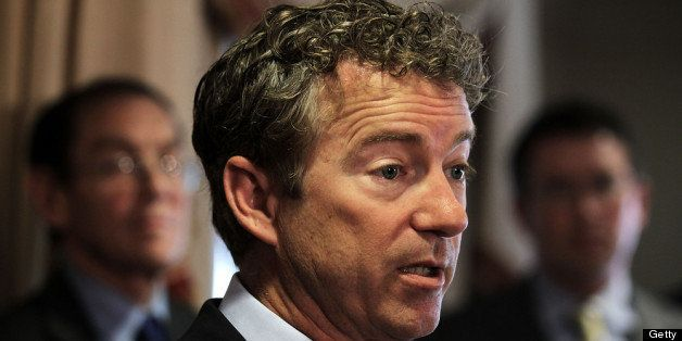 WASHINGTON, DC - JUNE 13:  U.S. Senator Rand Paul (R-KY) speaks during a news conference June 13, 2013 at the Capitol Hill Cl