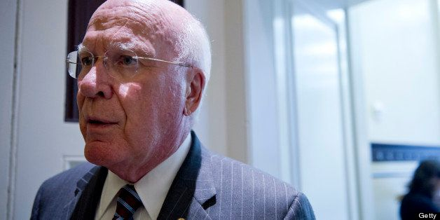 UNITED STATES - June 4: Sen. Patrick Leahy, D-VT., talks to reporters  as he walks to the weekly Senate policy luncheons in t