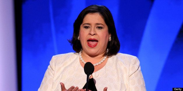 UNITED STATES - AUGUST 27:  Leticia Van de Putte, a Democratic senator from Texas, speaks during day three of the Democratic