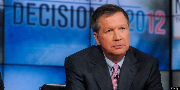 MEET THE PRESS -- Pictured: (l-r) ?  Gov. Deval Patrick (D-MA) left, and Gov. John Kasich (R-OH) right, appear on 'Meet the P