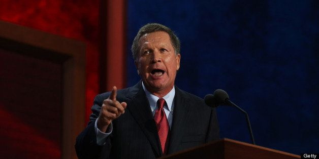 TAMPA, FL - AUGUST 28:  Ohio Gov. John Kasich speaks during the Republican National Convention at the Tampa Bay Times Forum o