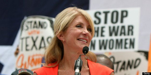 AUSTIN, TX - JULY 01:  Texas Sen. Wendy Davis (D-Ft. Worth) leads a rally in support of Texas women's right to reproductive d