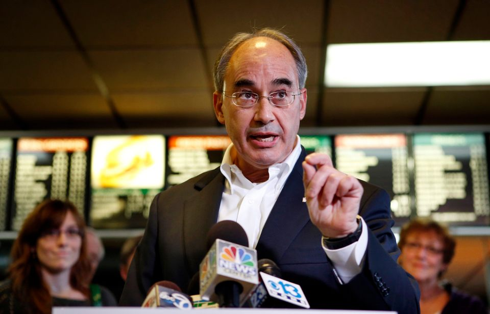 Republican Rep. Bruce Poliquin (R-Maine) speaks at a news conference, Wednesday, Nov. 5, 2014, at the Oakland House of Pizza