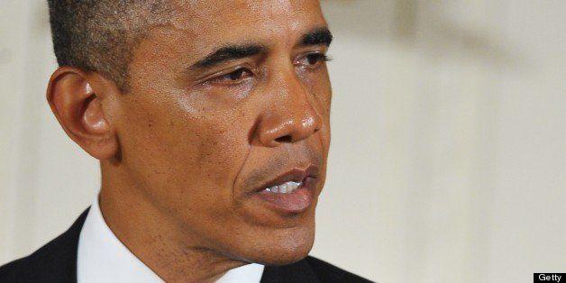 US President Barack Obama speaks during the 2012 National Medal of Arts and National Humanities Medal presentation ceremony o