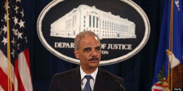 WASHINGTON, DC - JUNE 25:  U.S. Attorney General Eric Holder makes a statement on the U.S. Supreme Court's ruling on the Voti