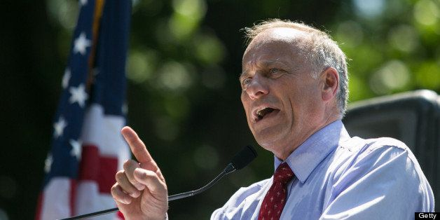 WASHINGTON, DC - JULY 15: Rep. Steve King (R-IA) speaks during the DC March for Jobs in Upper Senate Park near Capitol Hill,