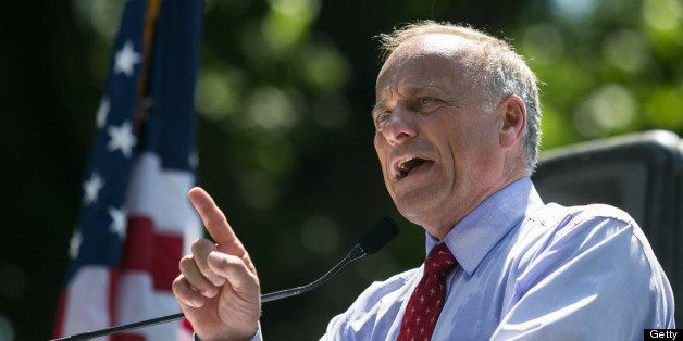 WASHINGTON, DC - JULY 15: Rep. Steve King (R-IA) speaks during the DC March for Jobs in Upper Senate Park near Capitol Hill, on July 15, 2013 in Washington, DC. Conservative activists and supporters rallied against the Senate's immigration legislation and the impact illegal immigration has on reduced wages and employment opportunities for some Americans. (Photo by Drew Angerer/Getty Images)