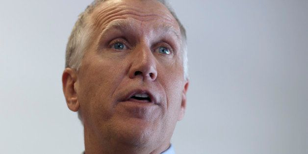 N.C. House Speaker Thom Tillis speaks to supporters at a rally at the Buncombe County Republican headquarters in Asheville, N