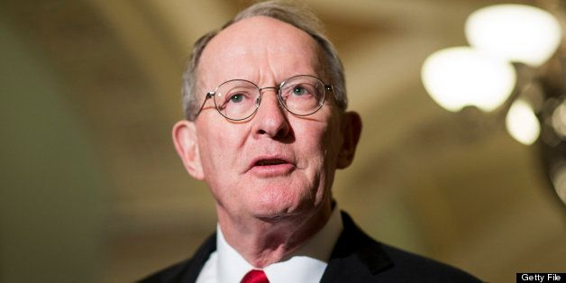 UNITED STATES - JULY 9: Sen. Lamar Alexander, R-Tenn., speaks to the media about student loans after the Senate policy lunche