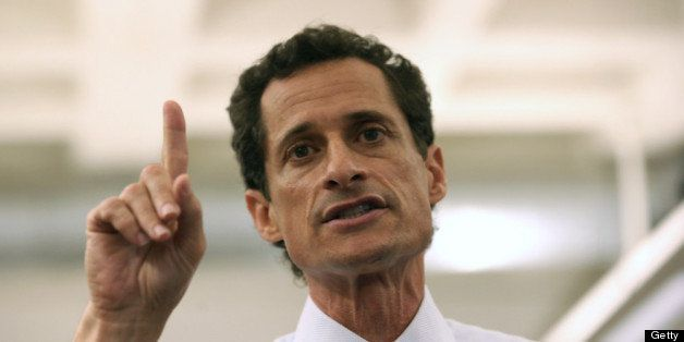 NEW YORK, NY - JULY 23:  Anthony Weiner, a leading candidate for New York City mayor, answers questions during a press confer