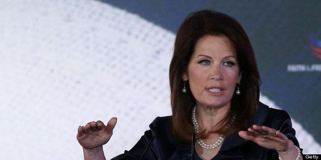 WASHINGTON, DC - JUNE 14: Rep. Michele Bachmann (R-MN) speaks at the Faith & Freedom Coalition conference, June 14, 2013 in W