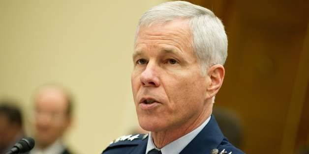 Gen. William Shelton, commander of the US Air Force Space Command, speaks at a House Science, Space, and Technology Committee