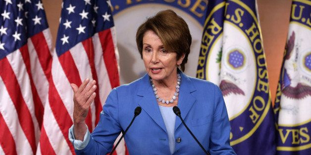 WASHINGTON, DC - AUGUST 02:  Calling House Republican leadership 'aimless and chaotic,' Minority Leader Nancy Pelosi (D-CA) a