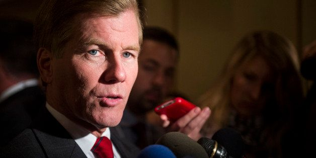 UNITED STATES - NOVEMBER 6: Governor of Virginia, Bob McDonnell speaks to reporters at the Virginia Republicans' election nig