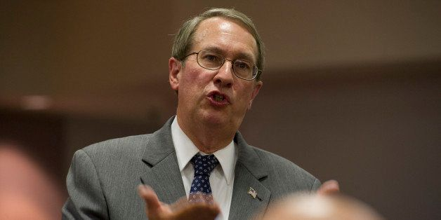 UNITED STATES - August 19: Rep. Bob Goodlatte, R-VA., hosted a Town Hall Meeting for constituents of the Sixth Congressional District on Monday, August 19, 2013, at the Augusta County Government Center in Verona Virginia. The Town Hall hosted well over 300 people and the addressed topics ranging from the gun control to the Benghazi terrorist attacks but the evenings main topic was about immigration. (Photo By Douglas Graham/CQ Roll Call)