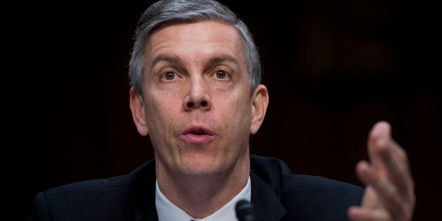 UNITED STATES - FEBRUARY 14:  Education Secretary Arne Duncan, testifies before a Senate Appropriations Committee hearing in
