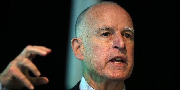 MOUNTAIN VIEW, CA - MAY 23:  California Gov. Jerry Brown speaks during the fourth annual Water, Energy and Smart Technology S