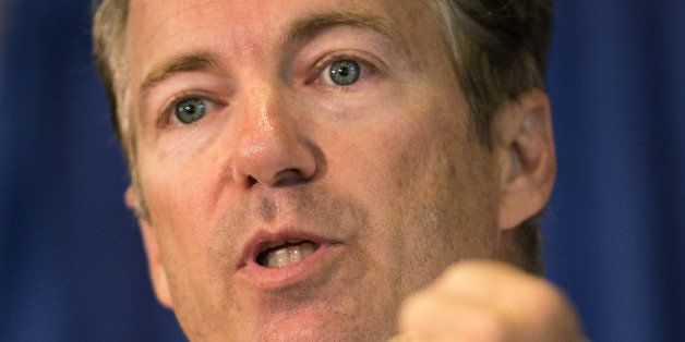 COLUMBIA, SC - JUNE 28:  Senator Rand Paul speaks to supporters during a Republican Party BBQ on June 28, 2013 in Columbia, S