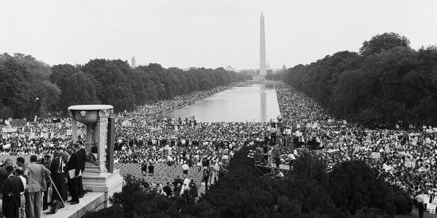 NBC News -- MARCH ON WASHINGTON FOR JOBS AND FREEDOM 1968 -- Pictured: Crowds gather at the National Mall during the March on