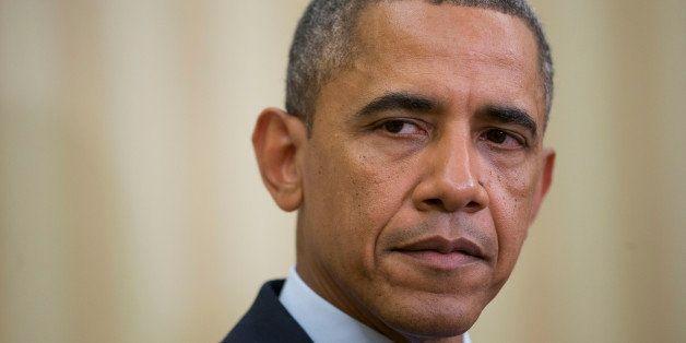 U.S. President Barack Obama listens as Abdurabu Mansur Hadi, Yemen's president, not pictured, speaks in the Oval Office of th