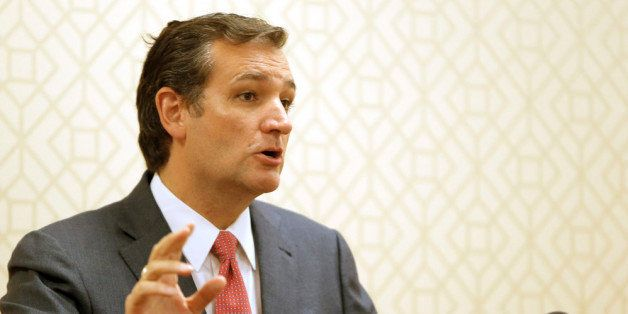 DALLAS, TX - AUGUST 20: Sen. Ted Cruz (R-TX) speaks during a press conference at the Hilton Anatole on August 20, 2013 in Dal