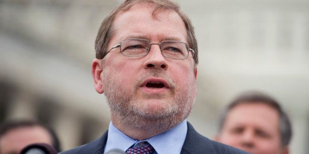 UNITED STATES - JUNE 18: Grover Norquist, president of Americans for Tax Reform, speaks at a news conference at the House Tri