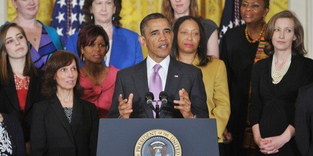 US President Barack Obama speaks on the Affordable Care Act on May 10, 2013 in the East Room of the White House in Washington
