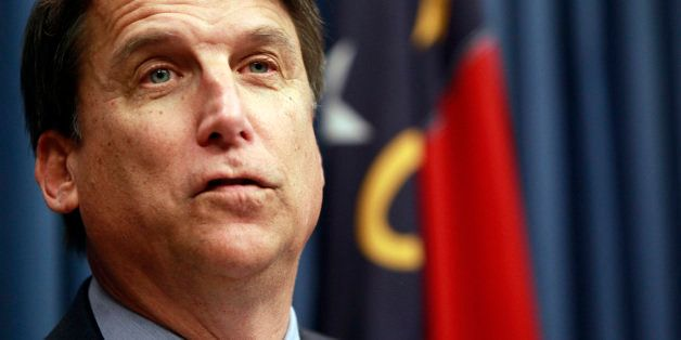 Gov. Pat McCrory holds his first news conference Monday, January 7, 2013, in Raleigh, North Carolina. In one of his first act