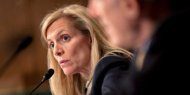 Lael Brainard, under secretary of the Treasury for international affairs, speaks during a Senate Banking Committee hearing in