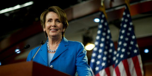 UNITED STATES - August 2: House Minority Leader Nancy Pelosi, D-Calif., during her weekly on-camera press briefing with the p