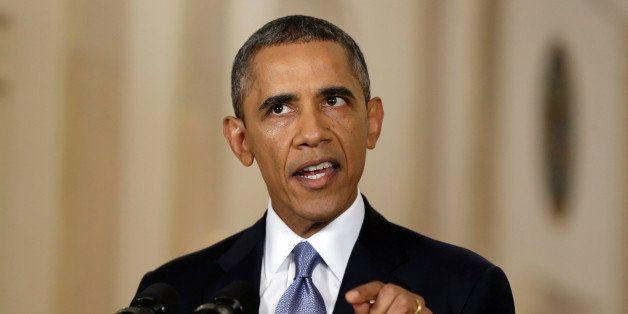 U.S. President Barack Obama speaks during a televised address at the White House in Washington, D.C., U.S., on Tuesday, Sept.