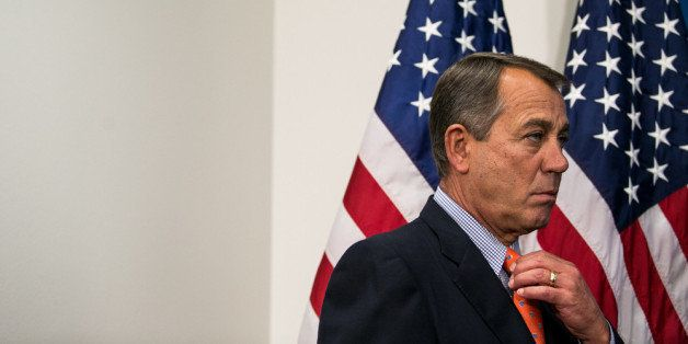 WASHINGTON, DC - JULY 9:  U.S. Speaker of the House John Boehner (R-OH) looks on during a press conference, on Capitol Hill,