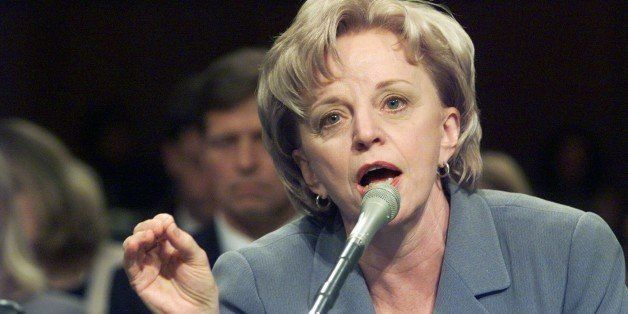 UNITED STATES - CIRCA 2000:  Lynne Cheney, wife of Republican vice presidential candidate Dick Cheney, testifies at a congres