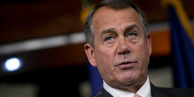 House Speaker John Boehner, a Republican from Ohio, speaks during a news conference in Washington, D.C., U.S., on Thursday, S