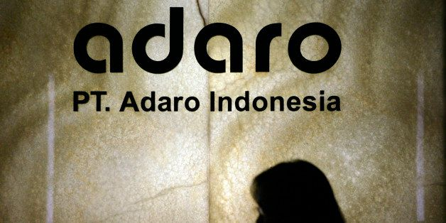 INDONESIA - JULY 14:  The logo of PT Adaro Indonesia is displayed at the company's offices in Jakarta, Indonesia, on Monday,