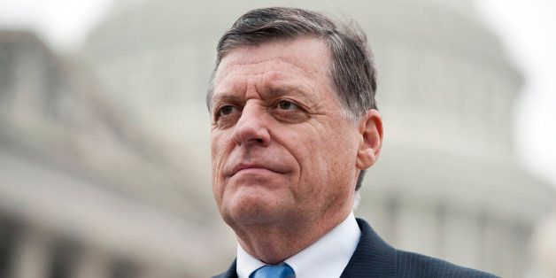 UNITED STATES ? NOVEMBER 4: Rep. Tom Cole, R-Okla., holds a news conference with Rep. Joe Courtney, D-Conn., not shown, to un