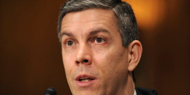 UNITED STATES - JANUARY 13:  Arne Duncan, nominee for Secretary of Education testifies at his confirmation hearing before the