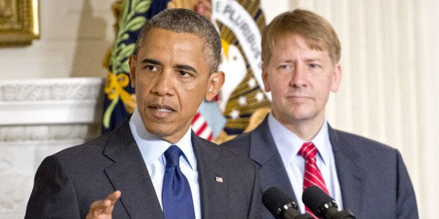 WASHINGTON, DC - JULY 17:  (AFP OUT) U.S. President Barack Obama delivers a statement on the confirmation of Richard Cordray