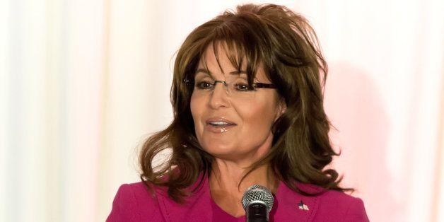 PHILADELPHIA, PA - APRIL 05:  Sarah Palin, former Governor of Alaska speaks at Terri Schiavo Life and Hope Network Award Gala