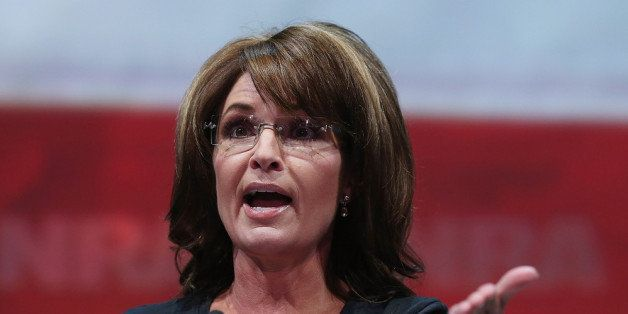 HOUSTON, TX - MAY 03:  Former Alaska Gov. Sarah Palin speaks during the 2013 NRA Annual Meeting and Exhibits at the George R.