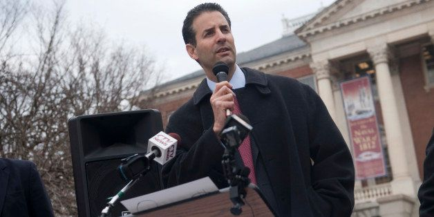 UNITED STATES - JANUARY 17: Rep. John Sarbanes, D-Md., joined other Maryland politicians and community leaders at a rally in