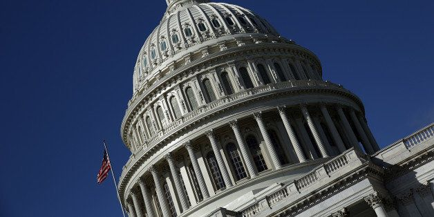 WASHINGTON, DC - SEPTEMBER 29:  The United States Capitol building is seen as Congress remains gridlocked over legislation to