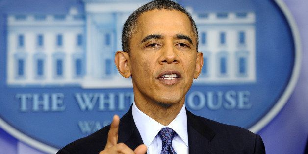 US President Barack Obama answers a question during a press conference in the Brady Press Briefing Room at the White House in