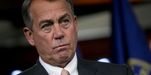 House Speaker John Boehner, a Republican from Ohio, listens to a question during a news conference in Washington, D.C., U.S.,